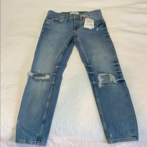 Zara straight mid rise jeans